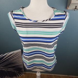 The limited sheer flowy top size xs colorful